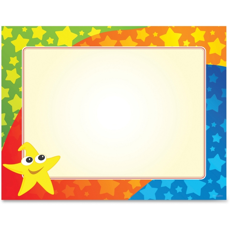 Geographics Color Stars Border Certificates 49989 GEO49989