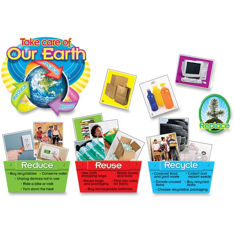 Trend Reduce/Reuse/Recycle Bulletin Board Set 8262 TEP8262