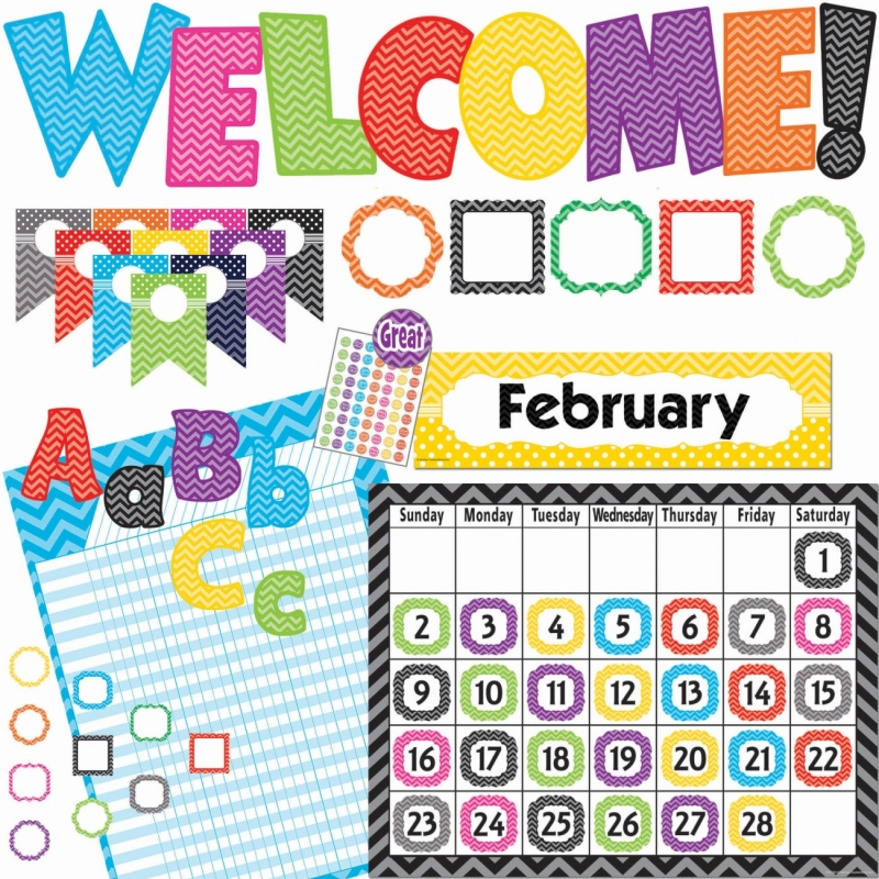Teacher Created Resources Chevon Accents Board Set 9589 TCR9589