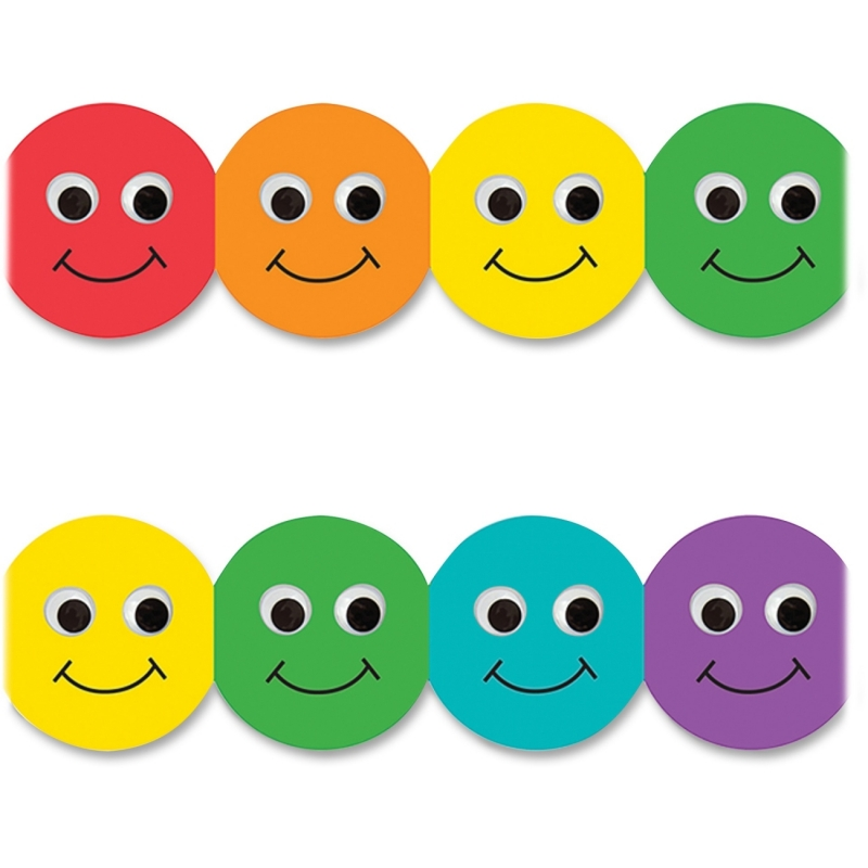 Hygloss Smiley Face Design Border Strips 33610 HYX33610