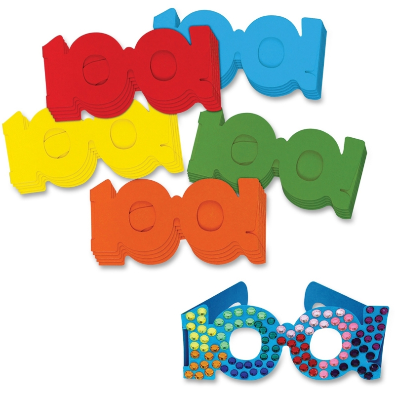ChenilleKraft 100th Day Paper Fun Glasses 4671 CKC4671