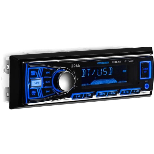 Boss Audio Single-DIN MECH-LESS Bluetooth 611UAB