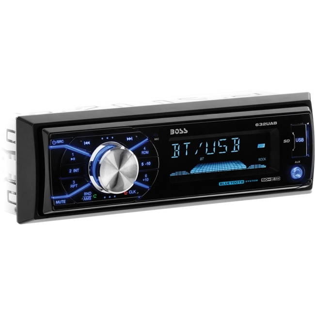 Boss Audio Single-DIN MECH-LESS with Detachable Front Panel Bluetooth 632UAB