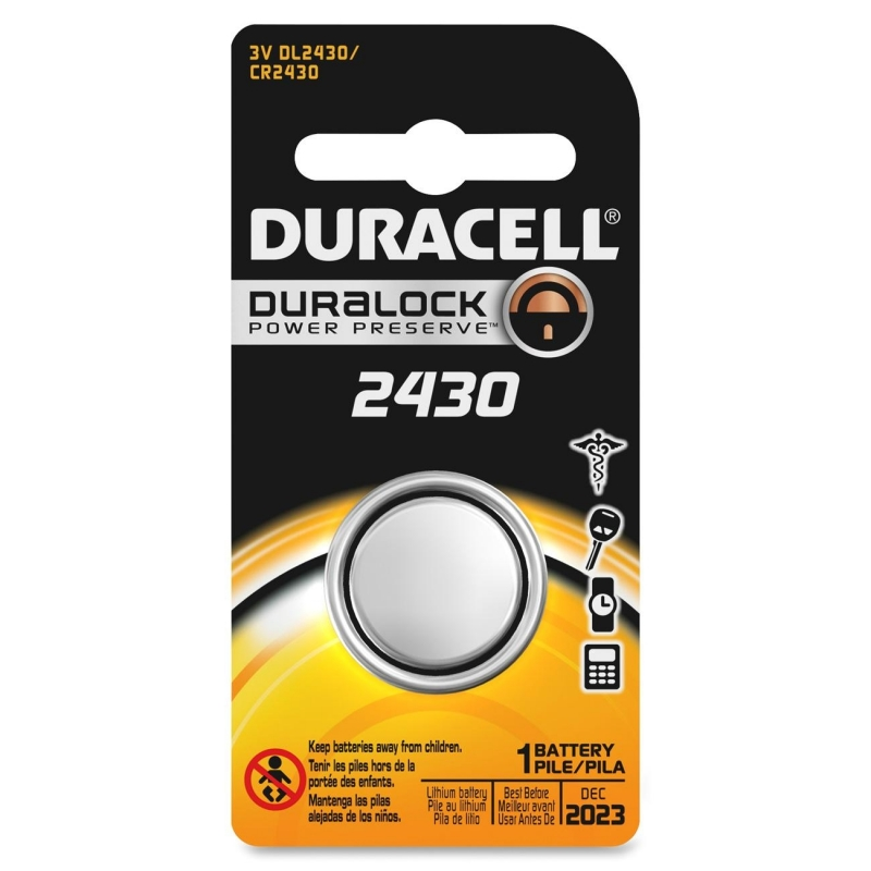 Duracell Lithium General Purpose Battery DL2430BPK DURDL2430BPK