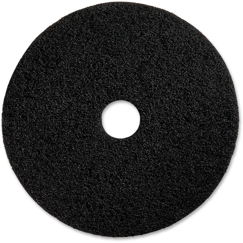 "Genuine Joe 20"" Black Floor Stripping Pad 90220 GJO90220"