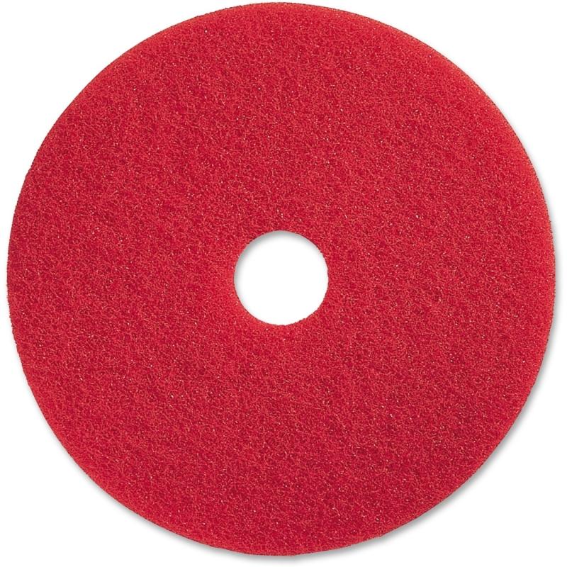 "Genuine Joe 17"" Red Buffing Floor Pad 90417 GJO90417"