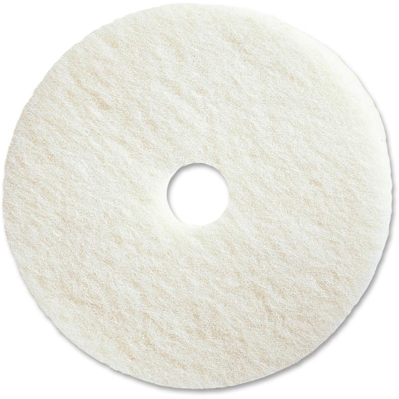 "Genuine Joe 17"" White Polishing Floor Pad 90517 GJO90517"