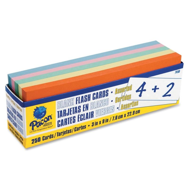 Pacon Blank Flash Card Dispenser Box 74150 PAC74150