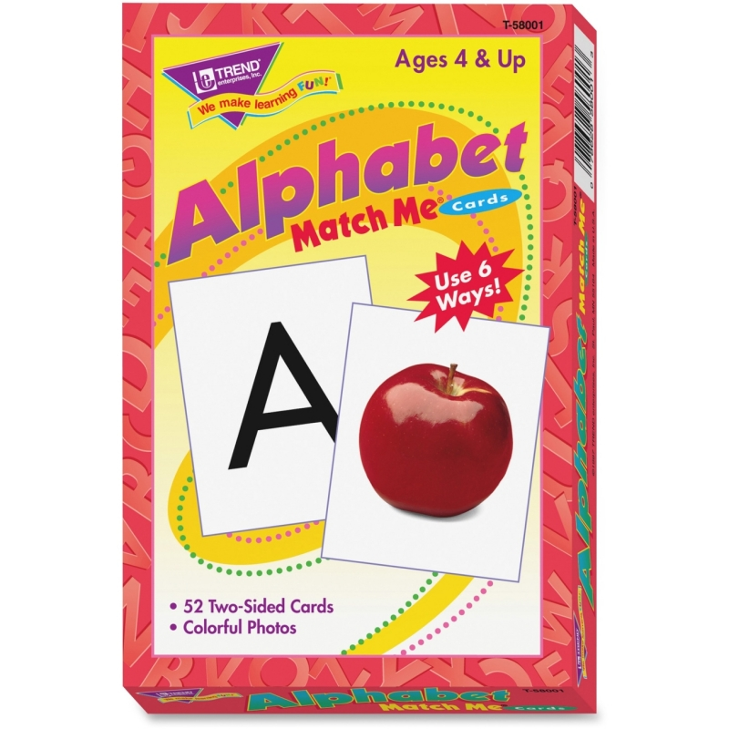 Trend Alphabet Match Me Flash Cards T58001 TEPT58001