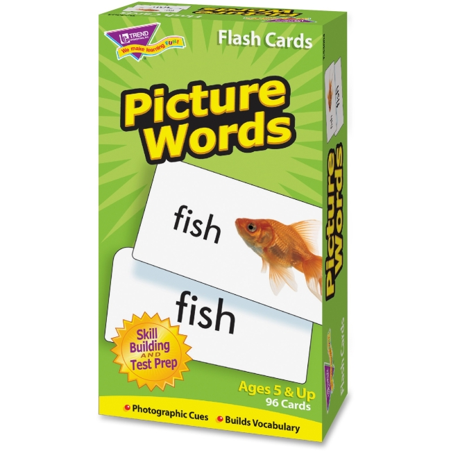 Trend Picture Words Flash Cards T53004 TEPT53004
