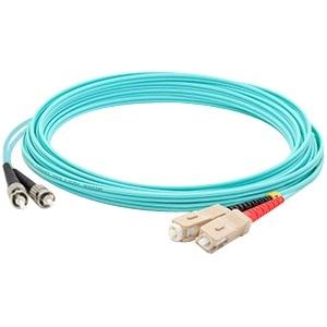AddOn 2.00m (6.56ft) ST (Male) to SC (Male) Aqua OM3 Duplex LSZH LOMM Patch Cable ADD-ST-SC
