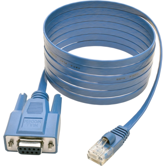 Tripp Lite 6 ft RJ45 to DB9F Cisco Serial Console Port Rollover Cable P430-006