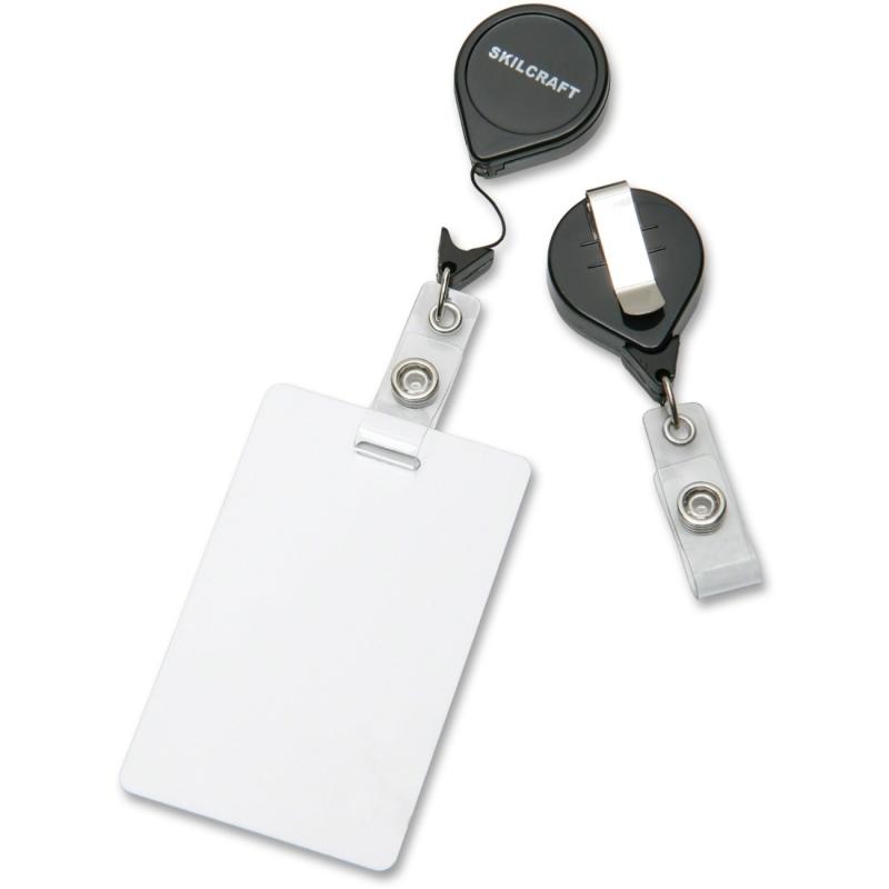 SKILCRAFT Retractable ID Card Reel 8455-01-545-3657 NSN5453657