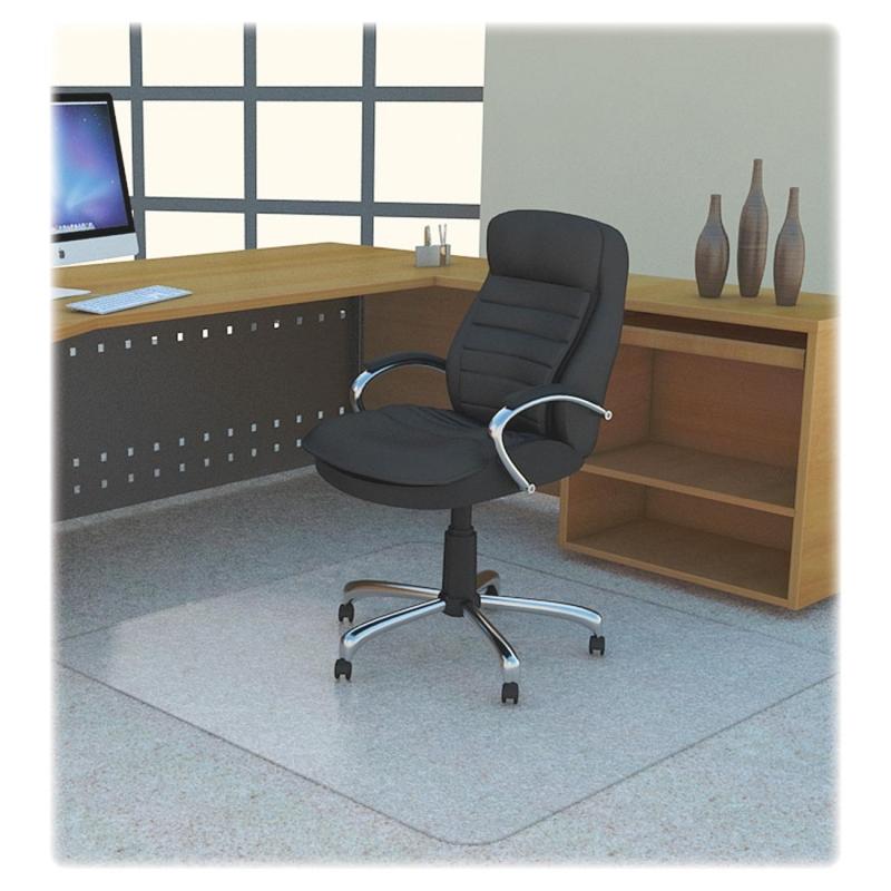 Lorell Polycarbonate Rectangular Studded Chair Mat 69704 LLR69704