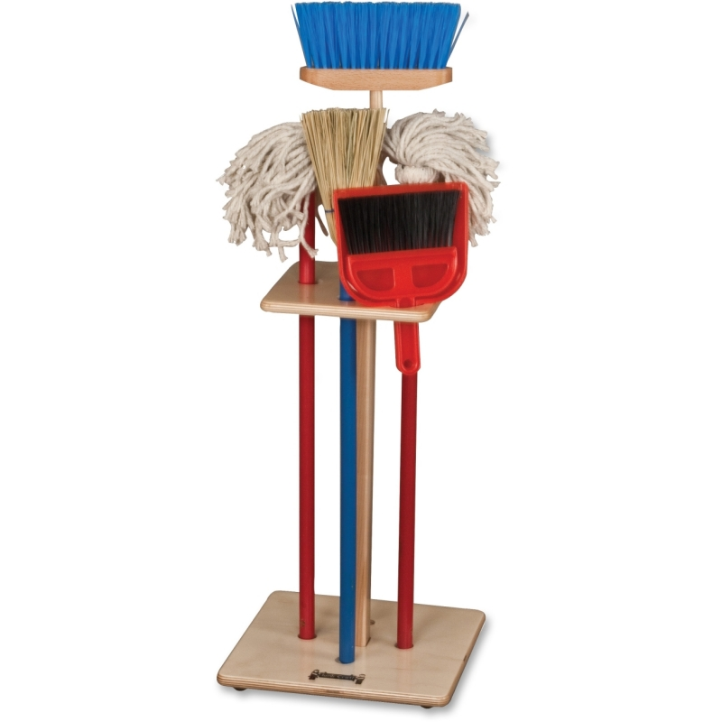 Jonti-Craft Jonti-Craft - Housecleaning Set-n-Rack 2061JC JNT2061JC