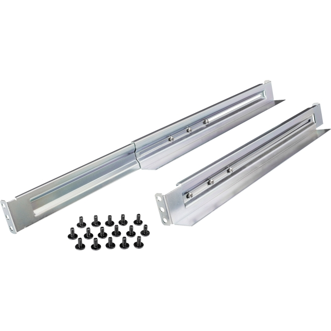 CyberPower Universal Rack Mount Adjustable Length Rail Kit for up to 231 Lbs 1U & 2U 4POSTRAIL