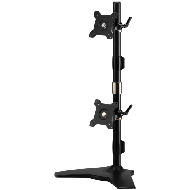 """Amer Mounts Stand Based Vertical Dual Monitor Mount. Up to 24"""", 26.4lb monitors AMR2SV"""