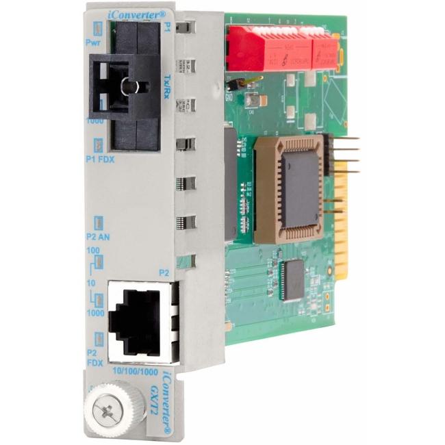 Omnitron iConverter GX/T2 SC Single-Mode Single-Fiber 15/13 20km Plug-In Module 8531N-1 8531N-1-x