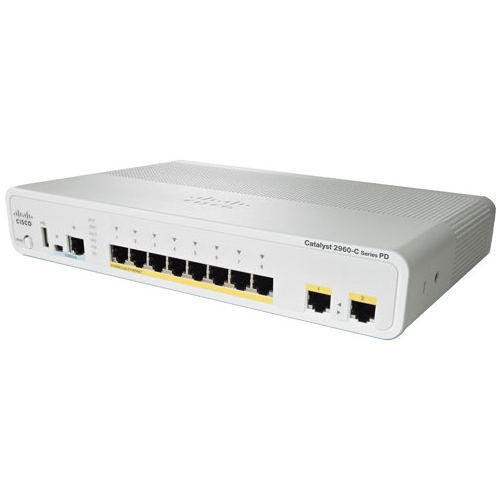 Cisco Catalyst Ethernet Switch - Refurbished WS-C2960CPD8PTL-RF 2960CPD-8PT-L