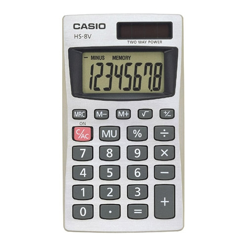Casio Basic Calculator HS8VA HS-8V