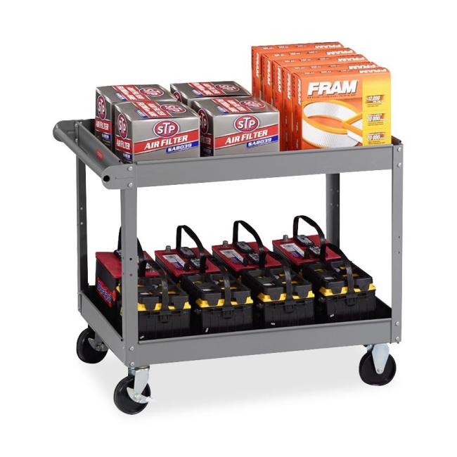 Tennsco Two Shelf Service Cart SC-2436MGY TNNSC2436MGY