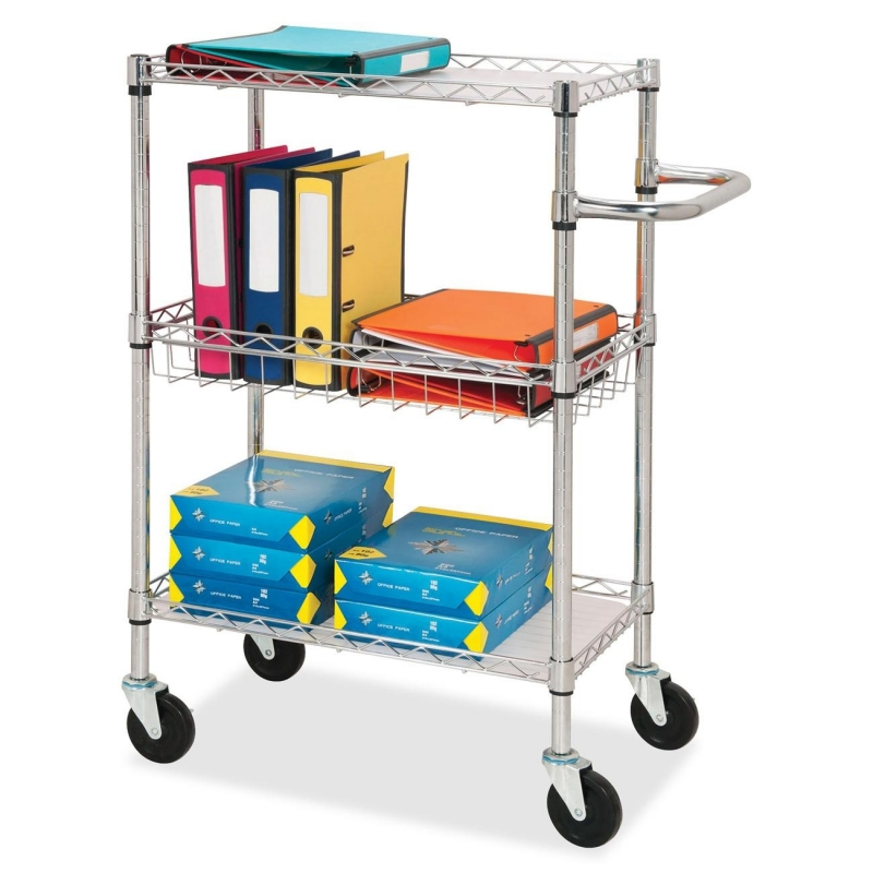 Lorell 3-Tier Rolling Carts 84859 LLR84859