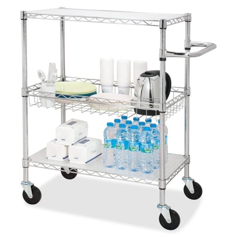 Lorell 3-Tier Rolling Carts 84858 LLR84858