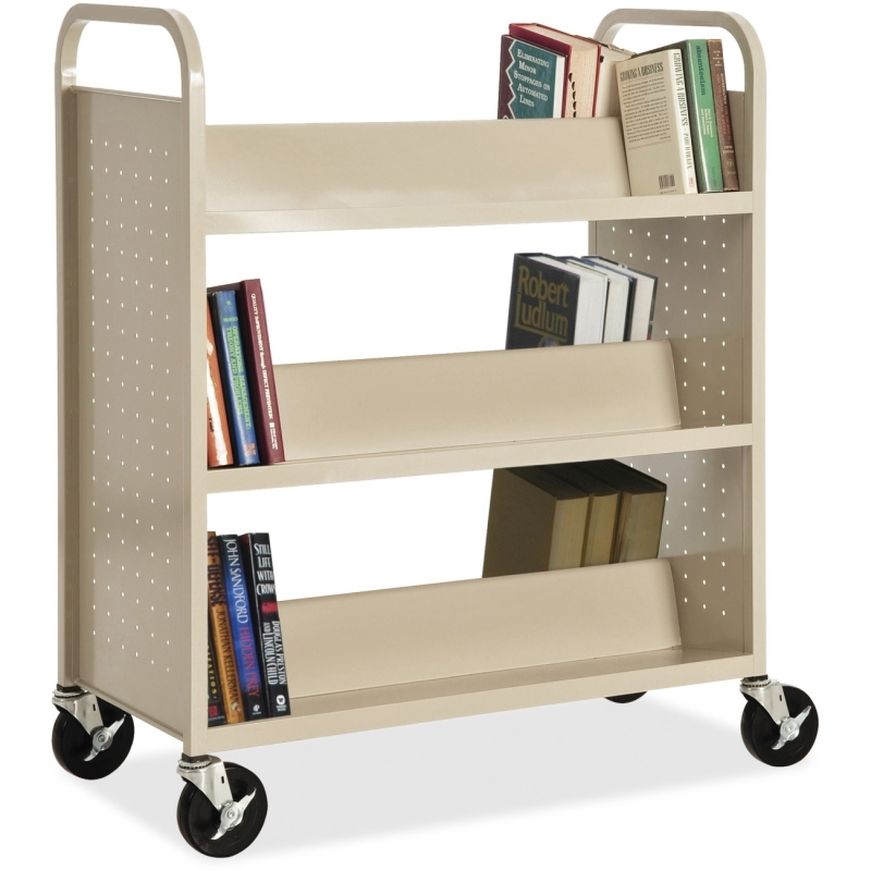 Lorell Double-sided Book Cart 49202 LLR49202