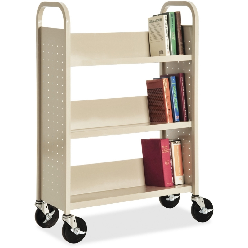 Lorell Single-sided Book Cart 49204 LLR49204
