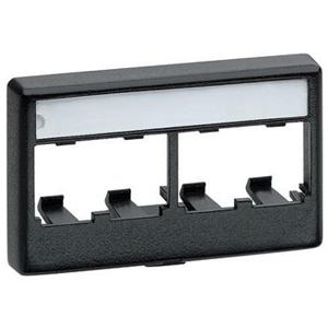 Panduit 4 Socket Mini-Com Snap-On Modular Furniture Faceplate CFFPL4BL