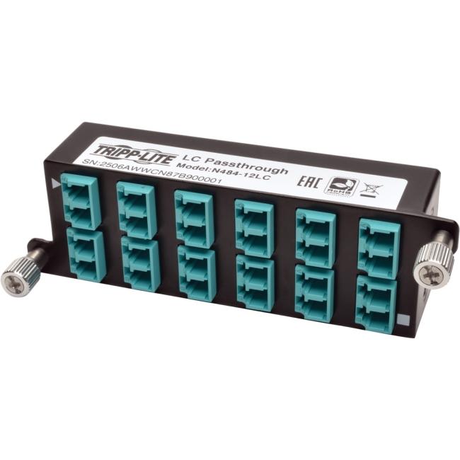 Tripp Lite 10GbE Pass-Through Cassette - (x12) LC Duplex N484-12LC
