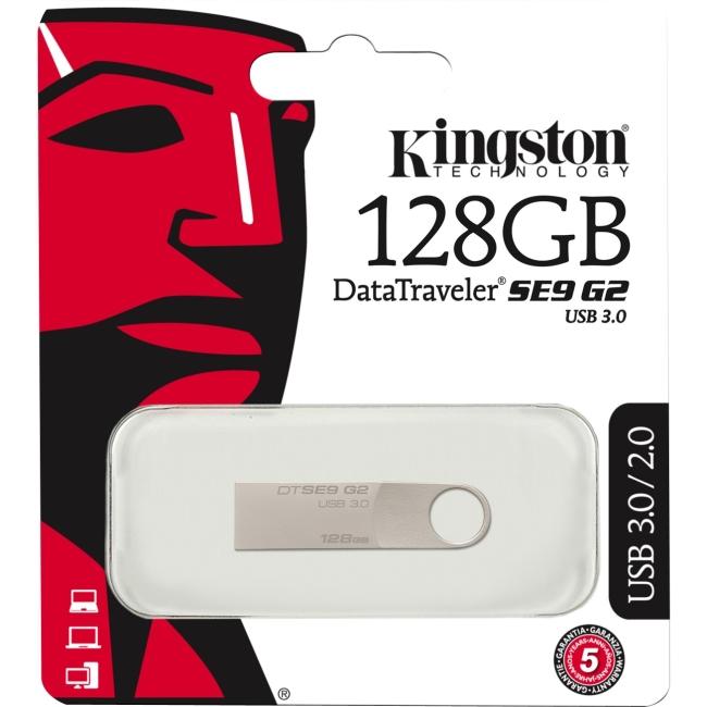 Kingston 128GB DataTraveler SE9 G2 USB 3.0 Flash Drive DTSE9G2/128GB