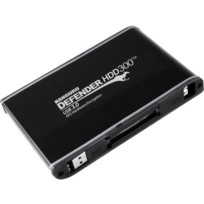 Kanguru Defender FIPS 140-2 Certified, Encrypted Secure Hard Drive, 500G KDH3B-300F-500 HDD300