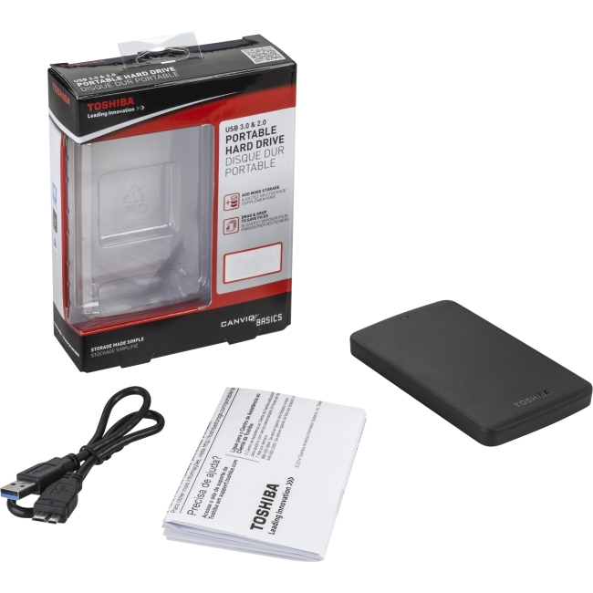 Toshiba 3TB Canvio Basics USB 3.0 Portable Hard Drive (Black) HDTB330XK3CA
