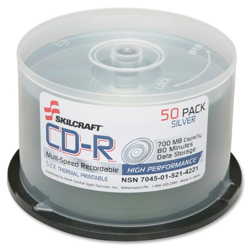 SKILCRAFT CD Recordable Media 5214221 NSN5214221