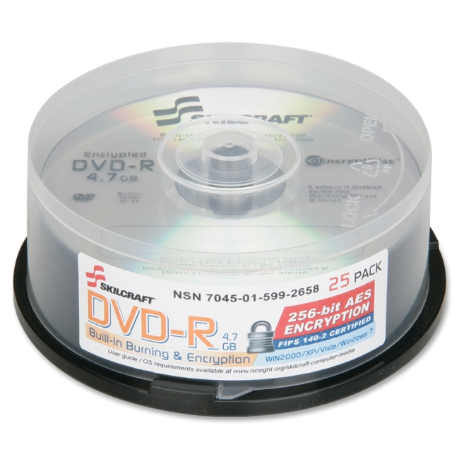SKILCRAFT DVD Recordable Media 5992658 NSN5992658