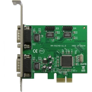 SYBA Multimedia 4-port DB-9 Serial (RS-232) PCI-e Controller Card, Moschip 9904 Chipset SY-PEX-4S