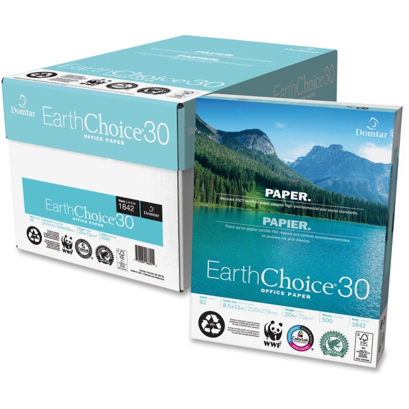 Domtar EarthChoice 30 Recycled Multipurpose Paper 1842 DMR1842