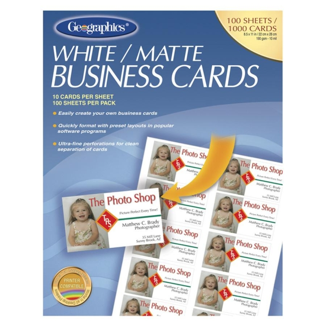 Geographics Royal Brites Business Card 46102 GEO46102