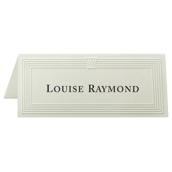 First Base Overtures Embossed Place Card 70-71419-2 FST71419