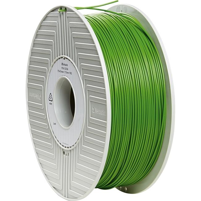 Verbatim PLA 3D Filament 1.75mm 1kg Reel - Green 55254