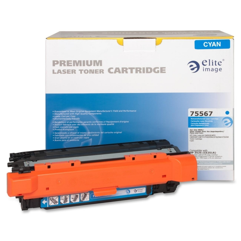 Elite Image Remanufactured Toner Cartridge Alternative For HP 504A (CE251A) 75567 ELI75567