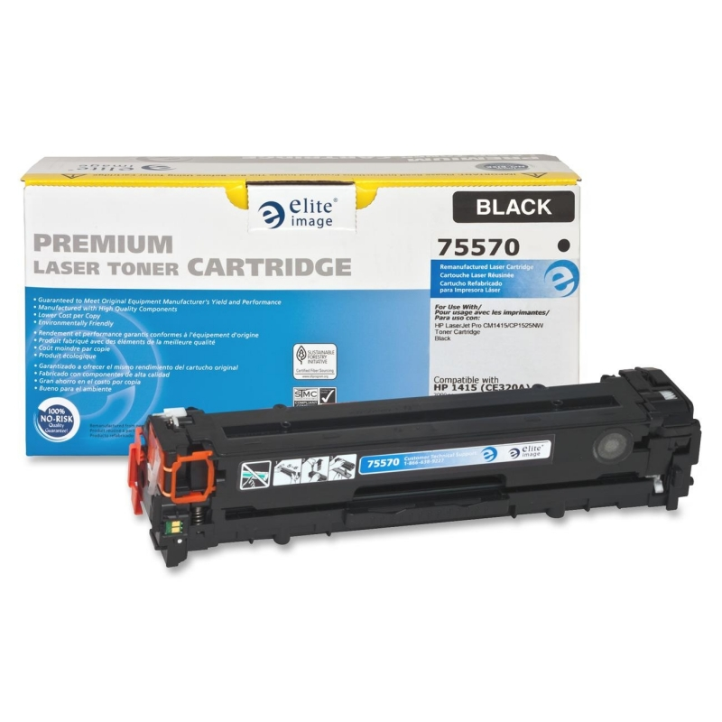 Elite Image Remanufactured Toner Cartridge Alternative For HP 128A (CE320A) 75570 ELI75570