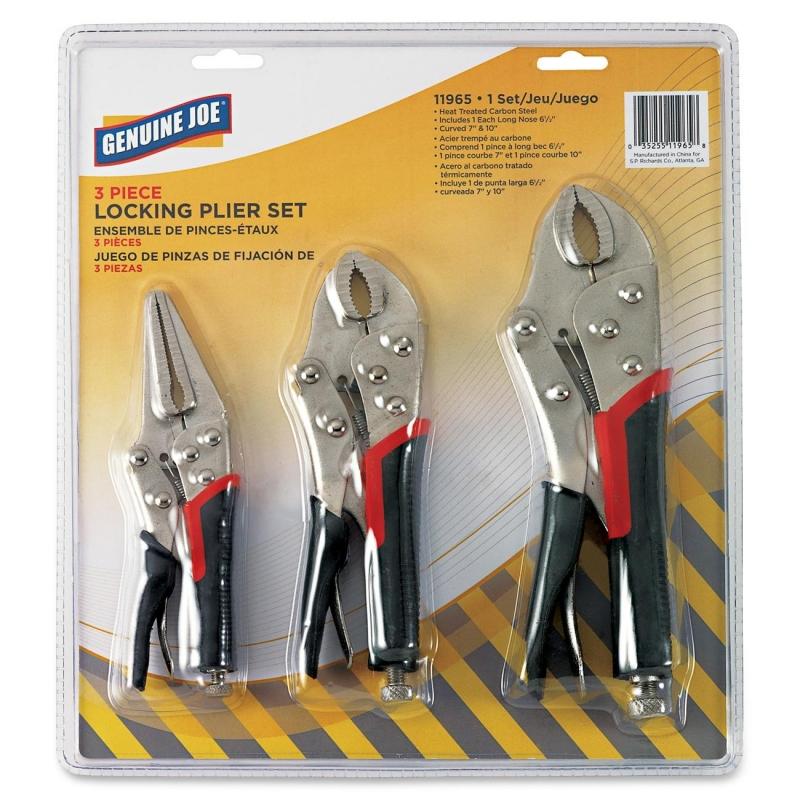 Genuine Joe 3pc Locking Plier Set 11965 GJO11965