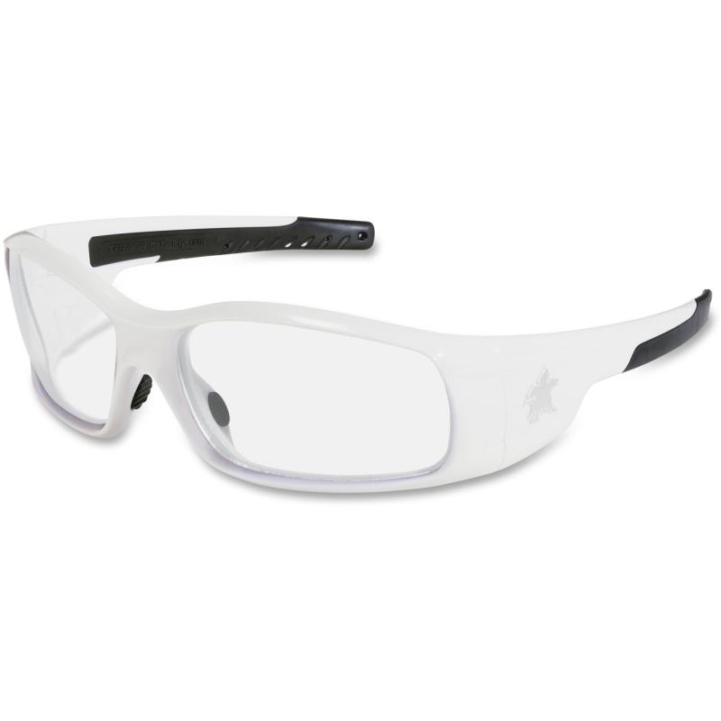 Crews Safety Swagger White Frame Safety Glasses CRWSR120 MCSCRWSR120 SR120