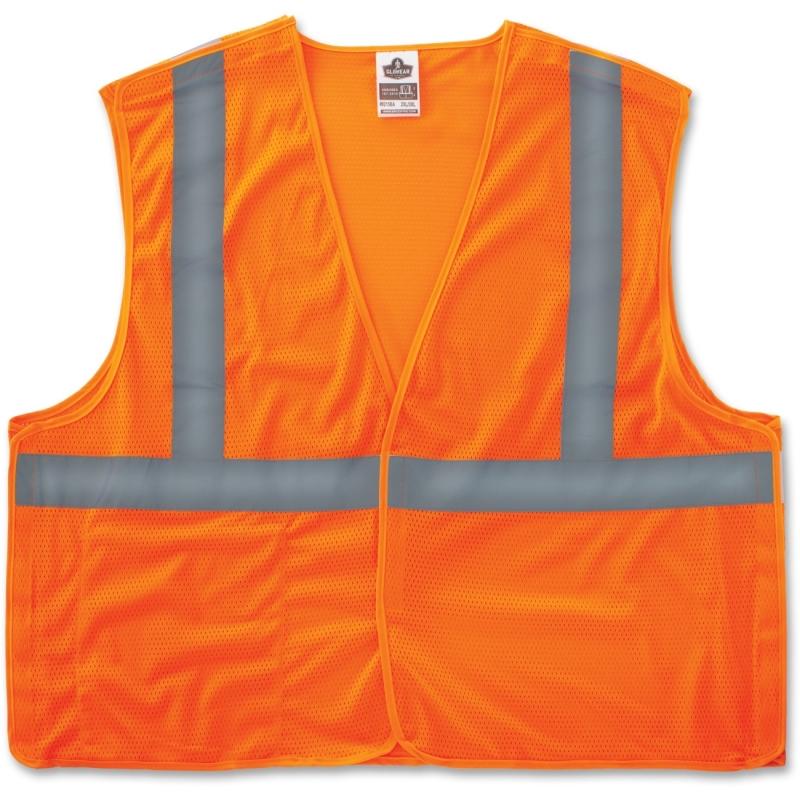 GloWear Orange Econo Breakaway Vest 21067 EGO21067 8215BA