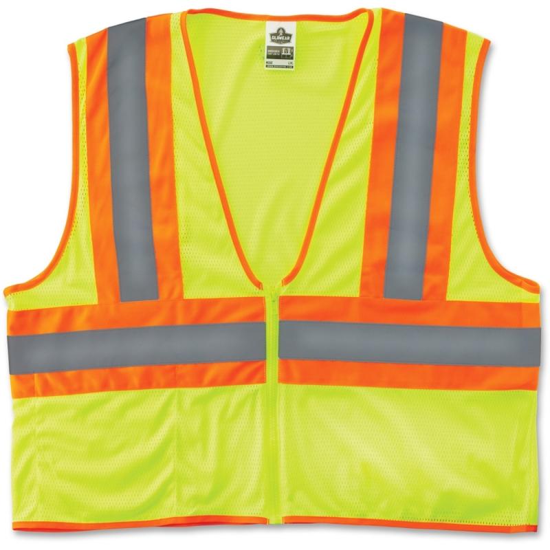 GloWear Class 2 Two-tone Lime Vest 21295 EGO21295 8229Z