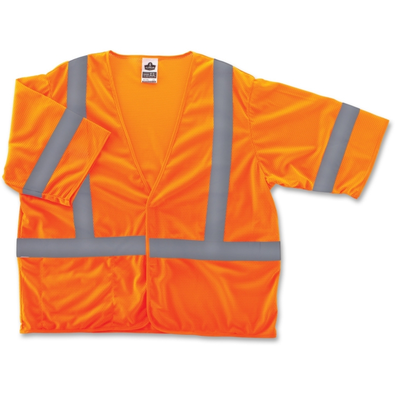 Ergodyne GloWear Class 3 Orange Economy Vest 22015 EGO22015 8310HL
