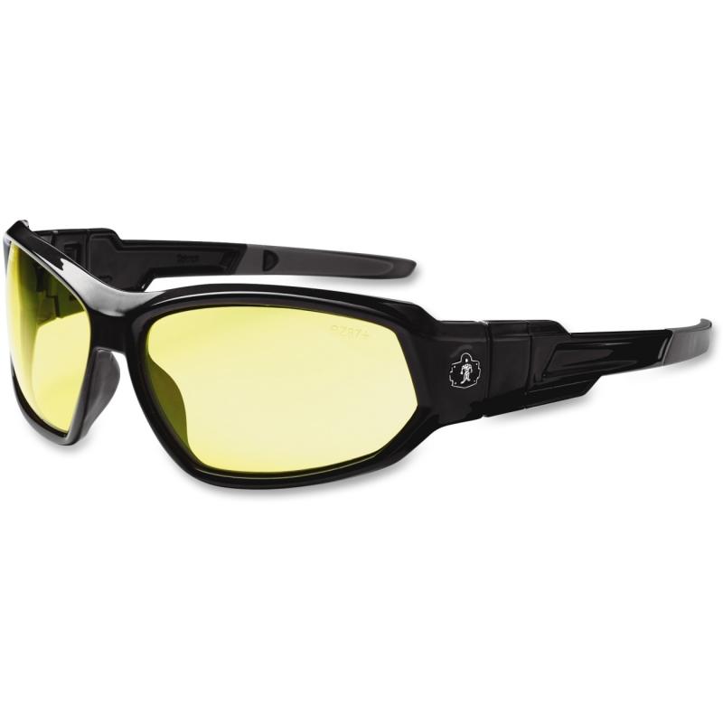 Ergodyne Yellow Lens Safety Glasses 56050 EGO56050 Loki