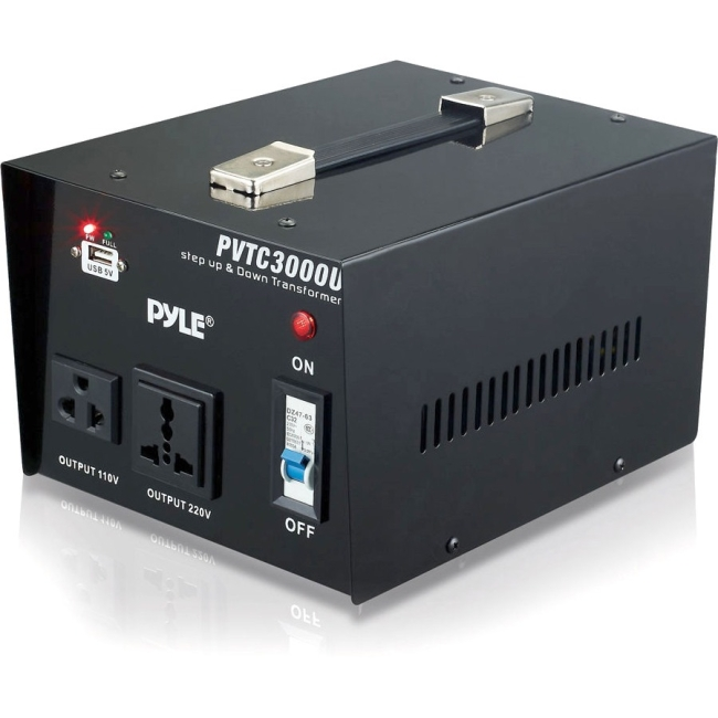 Pyle Step Up and Step Down 3000 Watt Voltage Converter Transformer - AC 110/220 V PVTC3000U